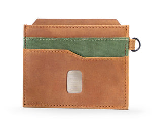 Slim Men's Leather Wallet - Money Clip Wallet