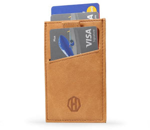 Black Leather Slide Sleeve RFID Wallet