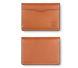 Men's Vegetable Tanned Leather Bifold Wallet