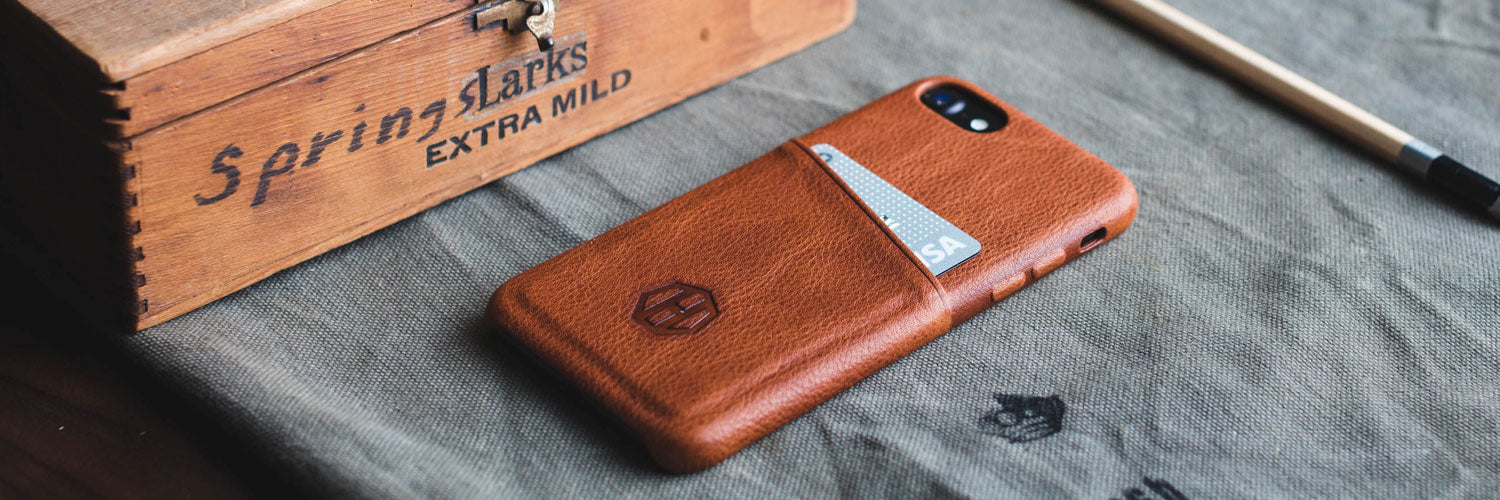 Genuine Leather iPhone Wallet Case