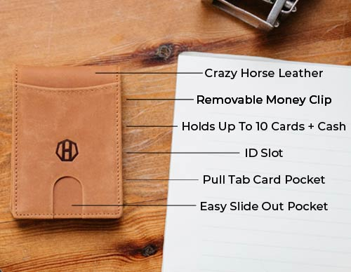 Slim Money Clip Leather Wallet