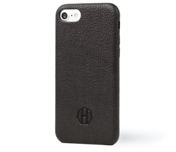 Haxford Black Leather iPhone 7 Slim Case