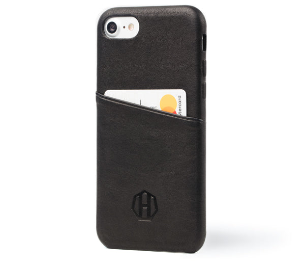 Haxford Black Leather iPhone 7 Cardholder Case