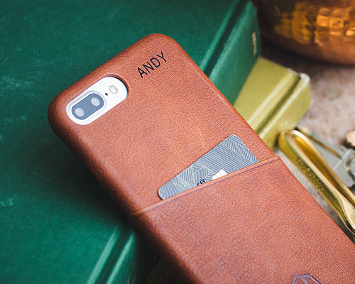 watch 23e82 05dd1 Brown Leather iPhone Slim Case