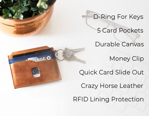 Slim Money Clip Wallet Details