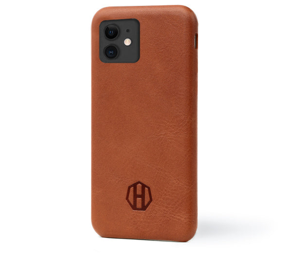 Leather iPhone 11 Pro Slim Brown Case