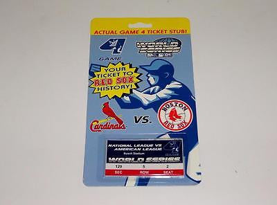 Cardinals VS. Red Sox Unsigned World Series Ticket Stub Memorabilia Lane
