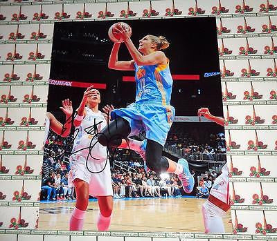 Elena Delle Donne Autographed 8x10 Photo Chicago Sky COA Memorabilia Lane
