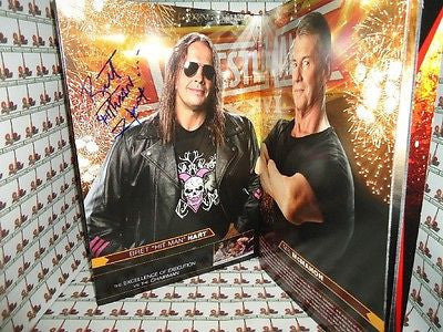 Bret Hart Autographed Wrestle Mania 26 Program COA Memorabilia Lane & Promotions
