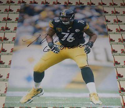 Mike Adams Steelers autograph 8x10 COA Memorabilia Lane & Promotions