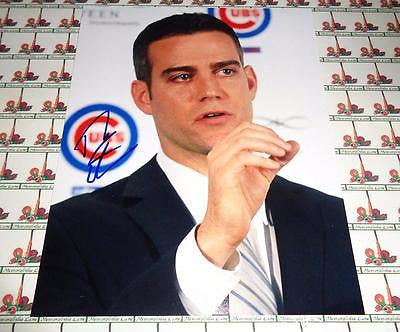 Theo Epstein Autographed 8x10 Photo COA Memorabilia Lane & Promotions