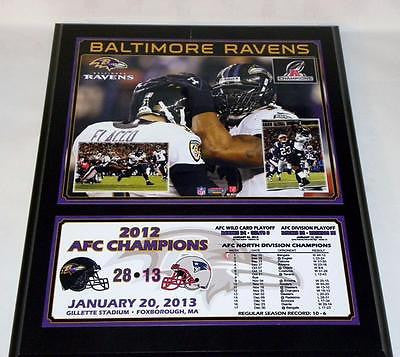 Baltimore Ravens Sublimated 12x15 Team Plaque SLIGHT SCRATCH 2012 AFC Champions