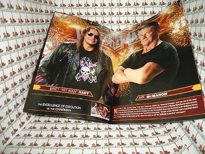 Bret Hart / Jim Ross Autographed Wrestle Mania 26 Program COA Memorabilia Lane