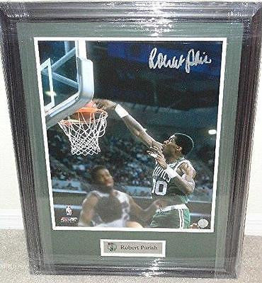 Robert Parish CELTICS autograph 16x20 FRAMED COA Memorabilia Lane