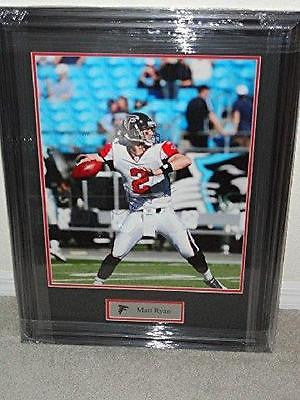Matt Ryan Autographed 16x20 Photo Framed Atlanta Falcons COA Memorabilia Lane