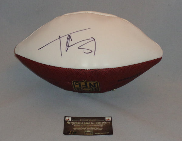 HOLIDAY CLOSE OUT Terrell Owens COWBOYS 49ers autograph football COA Memorabilia Lane & Promotions