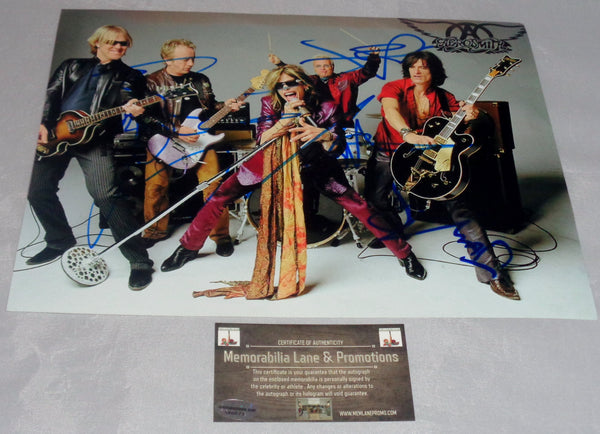 Aerosmith Steven Tyler, Joe Perry, Tom Hamilton, Joey Kramer Autographed photo