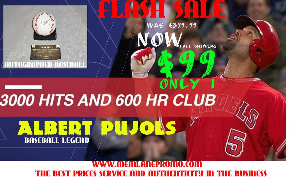 FLASH SALE Albert Pujols ANGELS autograph baseball COA Memorabilia Lane & Promotions
