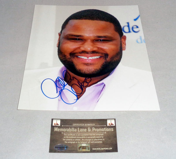 Anthony Anderson BLACKISH autographed 8x10 COA Memorabilia Lane