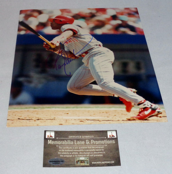 Barry Larkin Autographed 8x10 Photo COA Memorabilia Lane & Promotions