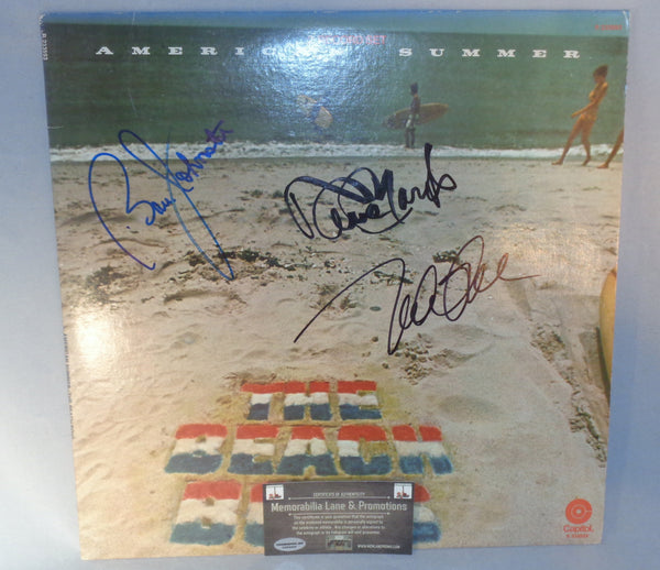 BEACH BOYS signed AMERICAN SUMMER autograph Record Memorabilia Lane & Promotions