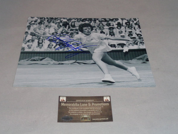 Billy Jean King Autographed 8x10 COA Memorabilia Lane & Promotions