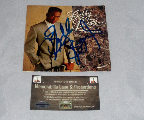 Bobby Brown Autographed CD COVER COA Memorabilia Lane & Promotions