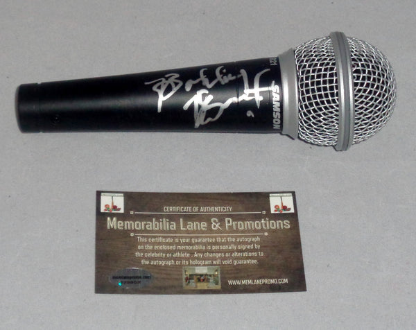 Bobby Brown (New Edition) autograph microphone COA Memorabilia Lane & Promotions
