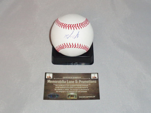 Brandon Belt SAN FRANCISCO GIANTS autograph OML Baseball COA Memorabilia Lane & Promotions