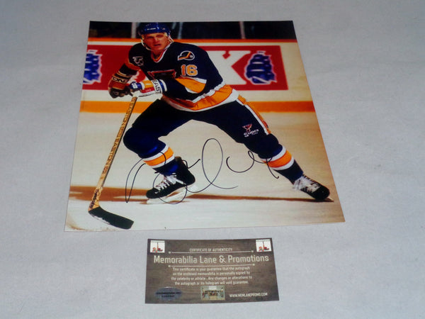 Brett Hull ST.LOUIS BLUES autograph 8x10 COA Memorabilia Lane & Promotions