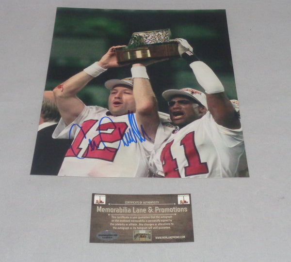 Chris Chandler FALCONS autograph 8x10 COA Memorabilia Lane & Promotions