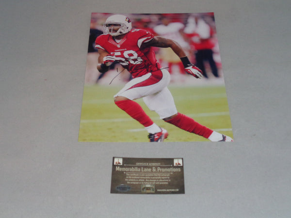 Daryl Washington CARDINALS autograph 8x10 COA Mewmorabilia Lane & Promotions