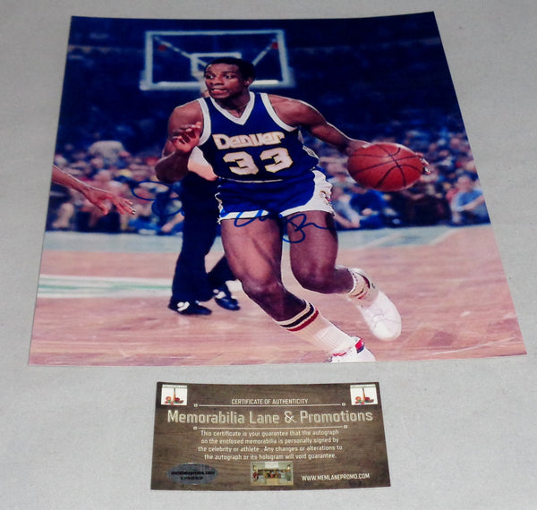 David Thompson NUGGETS autograph 8x10 COA Memorabilia Lane & Promotions