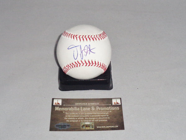 CLOSE OUT DJ Peterson MARINERS autograph OML baseball COA Memorabilia Lane