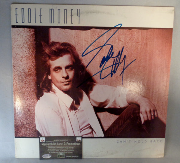 Eddie Money autograph record CAN'T HOLD BACK COA Memorabilia Lane & Promotions