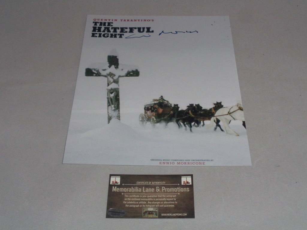 Ennio Morricone Autograph 8x10 The Hateful Eight COA Memorabilia Lane & Promotions