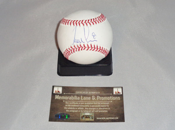 Erick Aybar $12 BLACK FRIDAY BLOW OUT PADRES autograph OML baseball COA Memorabilia Lane & Promotions