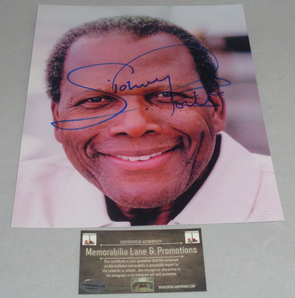 Sidney Poitier autograph 8X10 PHOTO COA Memorabilia Lane & Promotions