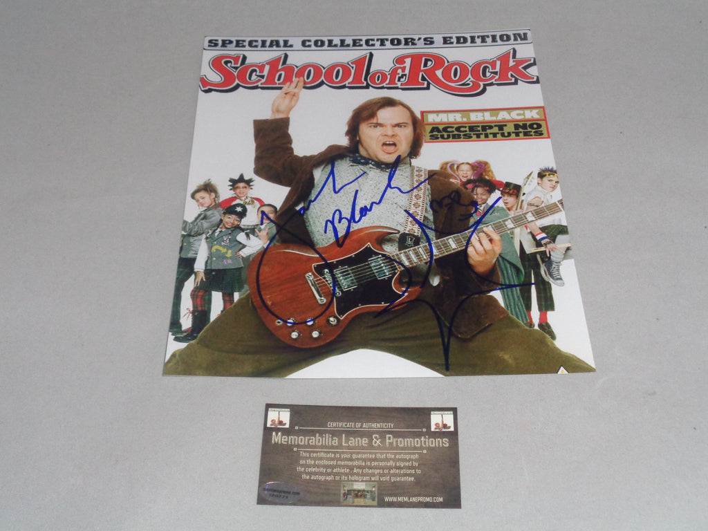 Jack Black Autograph 8x10 School of Rock Memorabilia Lane & Promotions