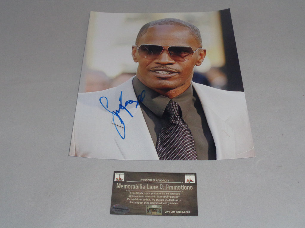 Jamie Foxx Autographed 8X10 photo COA Memorabilia Lane & Promotions