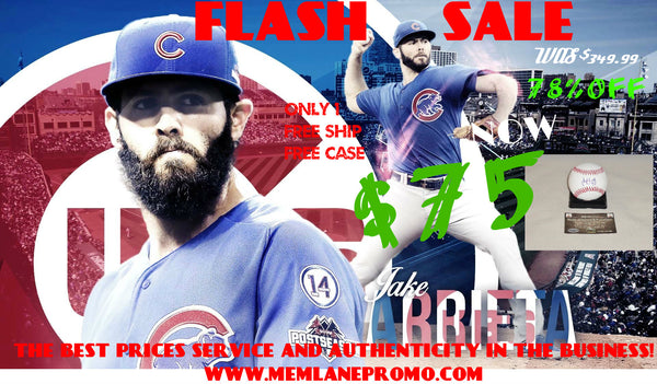Jake Arrieta FLASH SALE CUBS autograph Baseball Memorabilia Lane & Promotions