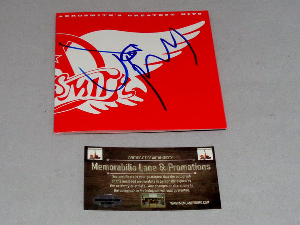 Joe Perry AEROSMITH autograph CD Cover COA Memorabilia Lane & Promotions
