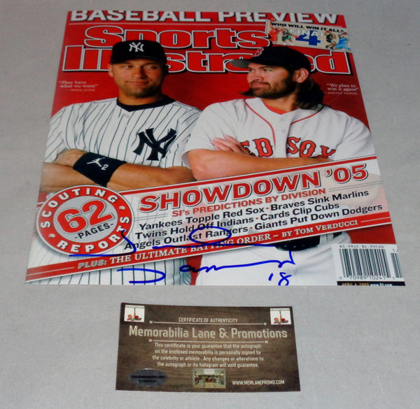 Johnny Damon RED SOX autograph 8x10 COA Memorabilia Lane & Promotions