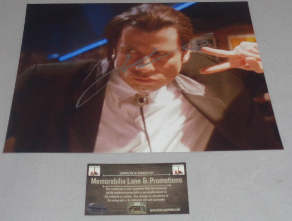 John Travolta PULP FICTION autograph 8x10 COA Memorabilia Lane & Promotions