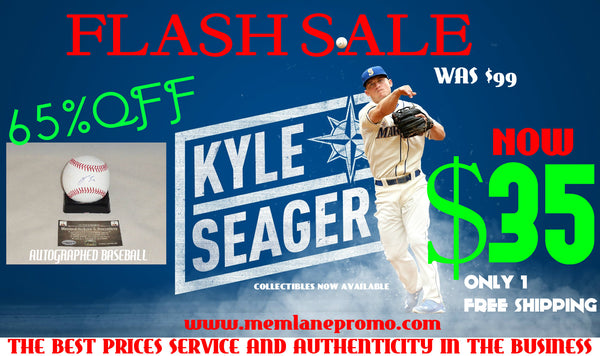FLASH SALE Kyle Seager Mariners autograph Baseball Memorabilia Lane & Promotions