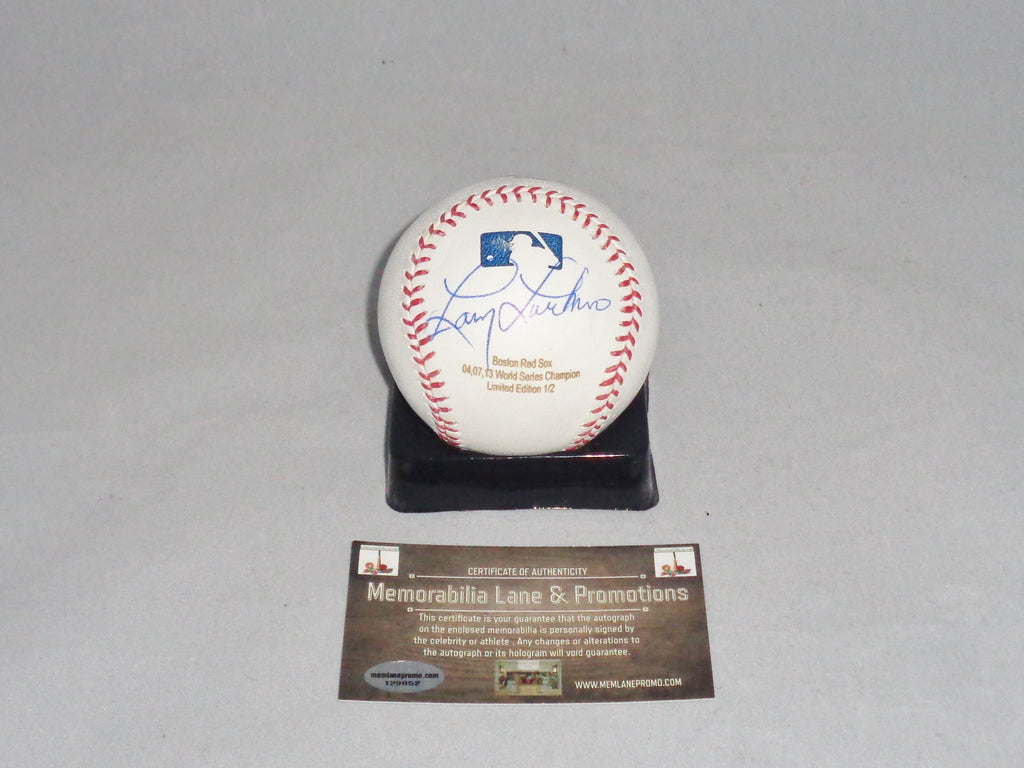 Larry Lucchino RED SOX autograph baseball LTD EDITION MEMORABILIA LANE