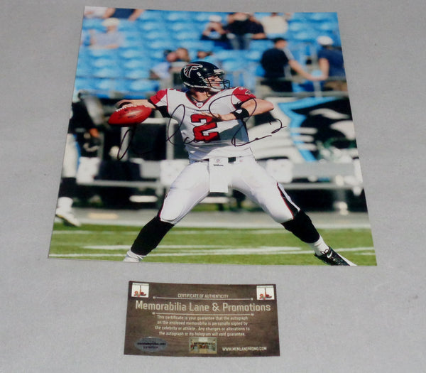 Matt Ryan FALCONS autograph 8x10 COA Memorabilia Lane & Promotions
