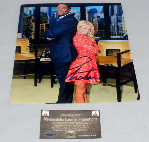 Michael Strahan GIANTS Live With Kelly autograph 8x10 COA Memorabilia Lane & Promotions