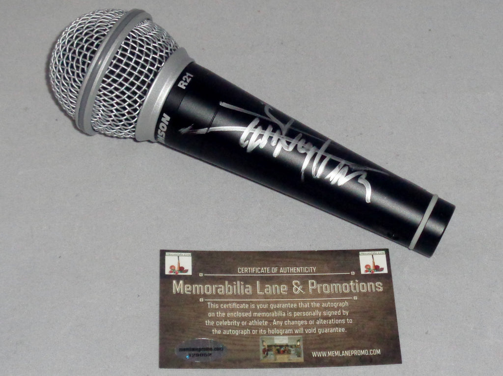 Quincy Jones autographed microphone COA Memorabilia Lane & Promotions