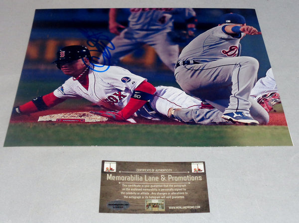 QUINTIN BERRY RED SOX autograph 8x10 COA Memorabilia Lane & Promotions